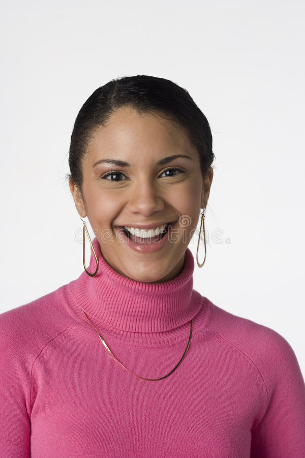 Portrait of a young Latino woman royalty free stock photo
