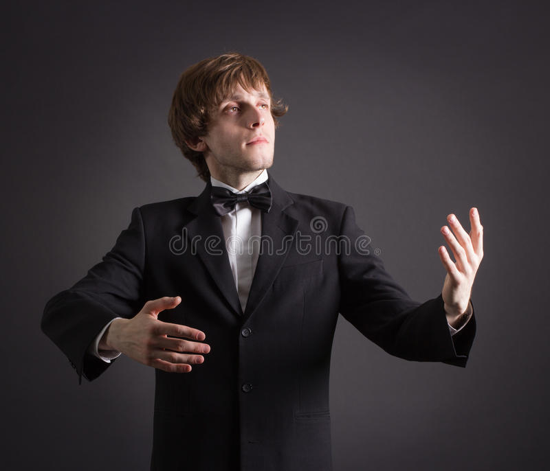 Portrait of a young male artistry. royalty free stock photos