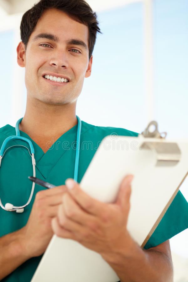 Download Portrait Of Young Male Doctor Stock Photo - Image: 21284574