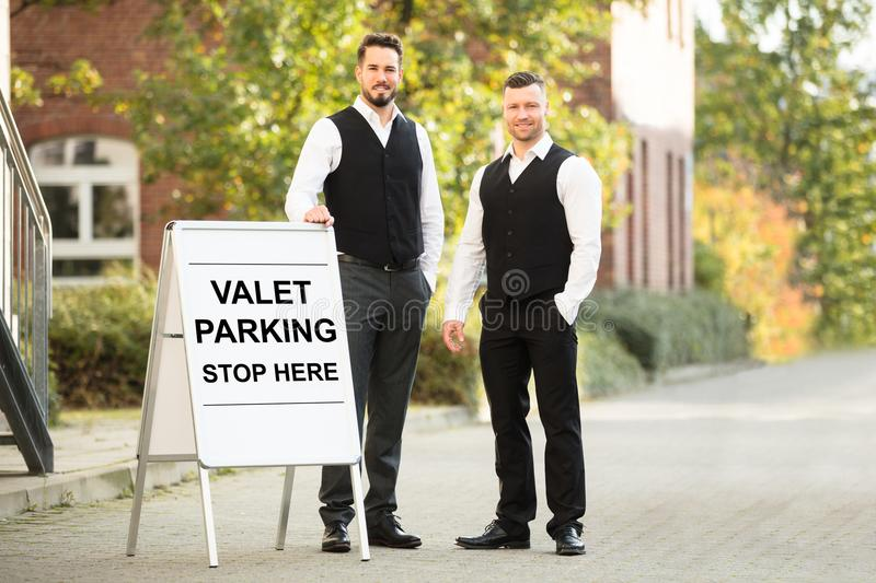 Portrait Of A Young Male Valet stock photos
