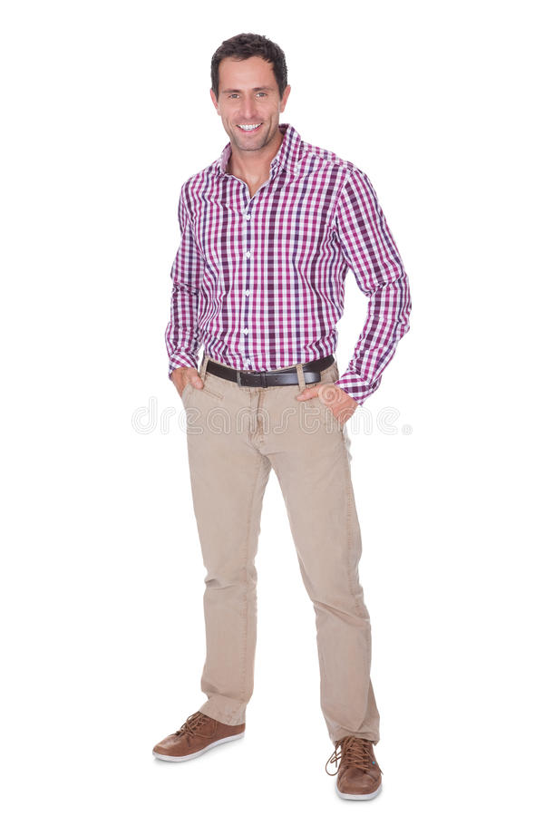 Portrait Of Young Man With Hand In Pocket royalty free stock images