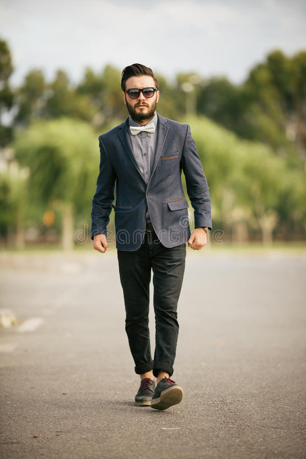 Portrait of young man - Hipster stock image