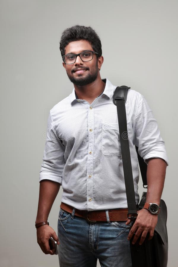 A young man of Indian origin royalty free stock photography