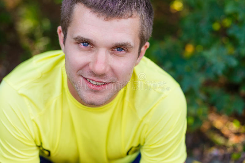 Download Portrait Of A Young Man Outdoors Stock Photo - Image: 83718800