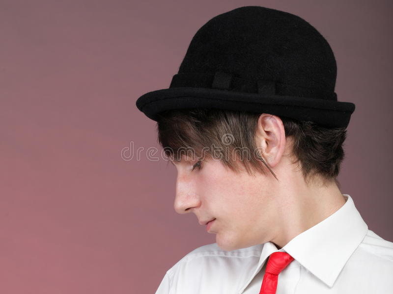 Download Portrait Young Man And Rose Enamoured Love Stock Image - Image: 33759551