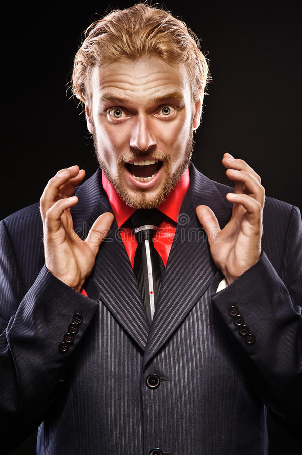Download Portrait Of Young Man Shouting Stock Photo - Image: 24739840