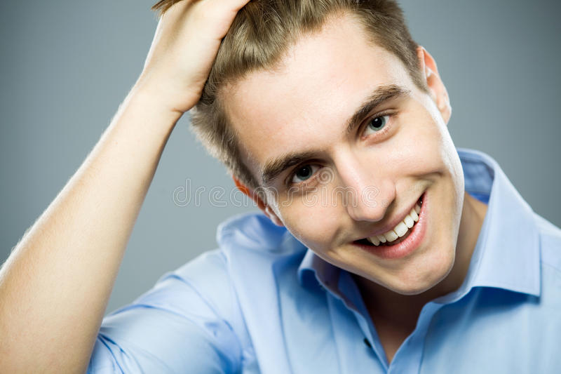 Portrait Of Young Man Smiling Stock Image