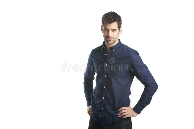 Handsome young man studio portrait stock images