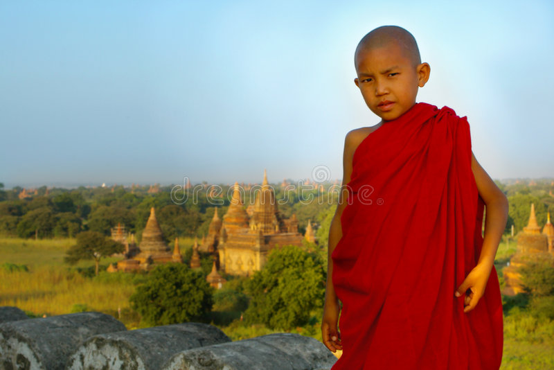 Download Portrait of a young monk stock photo. Image of burma, rural - 1986166