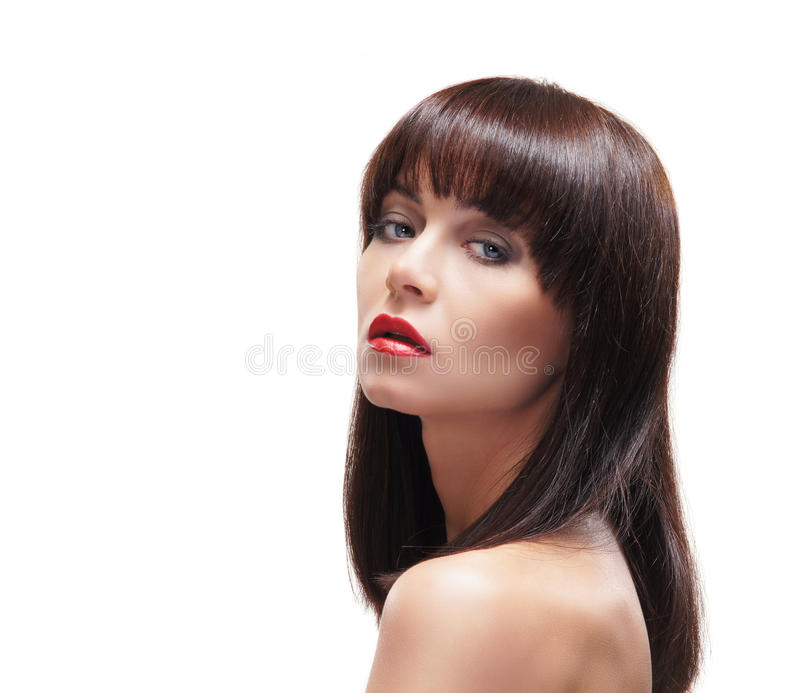 Portrait of a young and naked Caucasian woman royalty free stock image