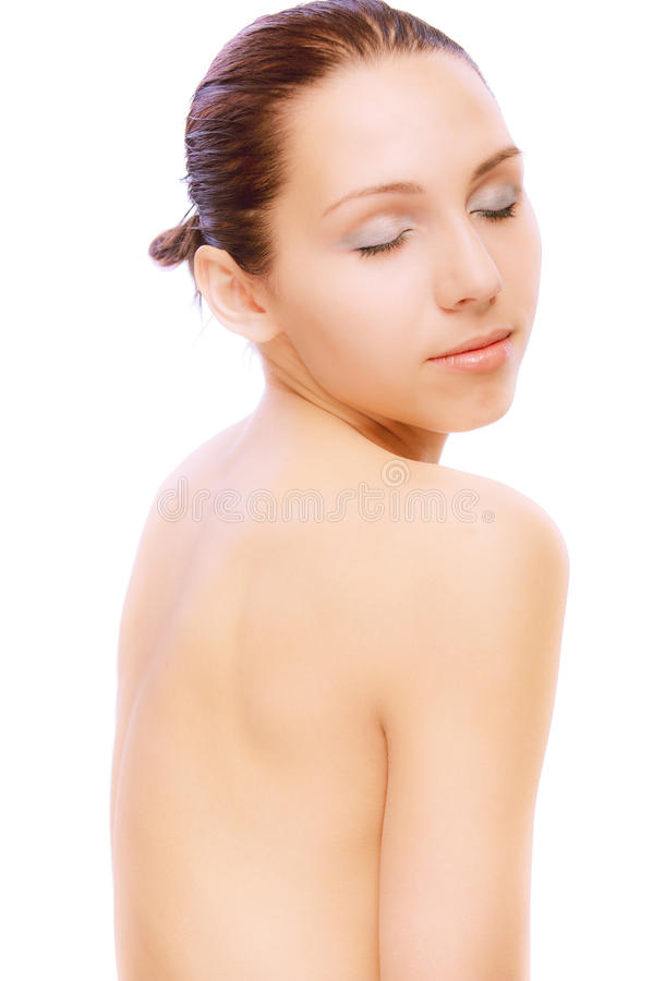 Download Portrait Of Young Nude Woman Stock Photo - Image: 14246514