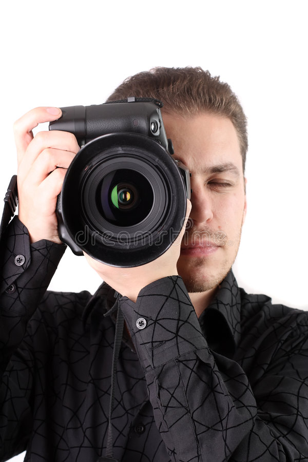 Portrait of young photographer royalty free stock photo