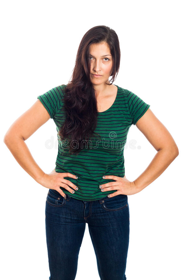 Download Serious woman stock image. Image of casual, long, confidence - 30135051
