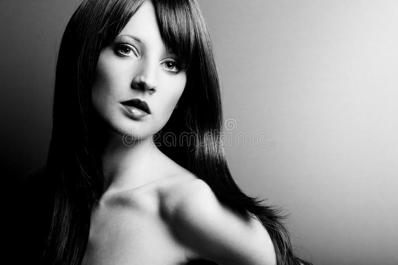 Portrait Of The Young Sexual Woman Closeup Stock Image