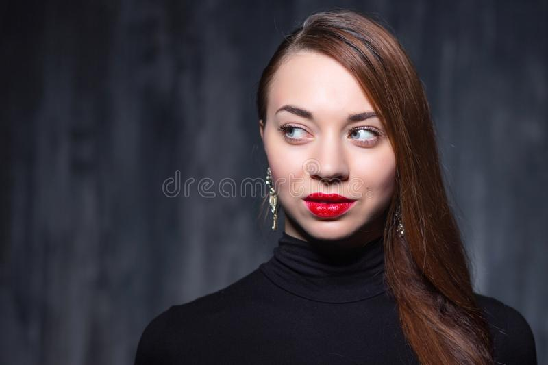 Portrait of a young sexy woman stock photos