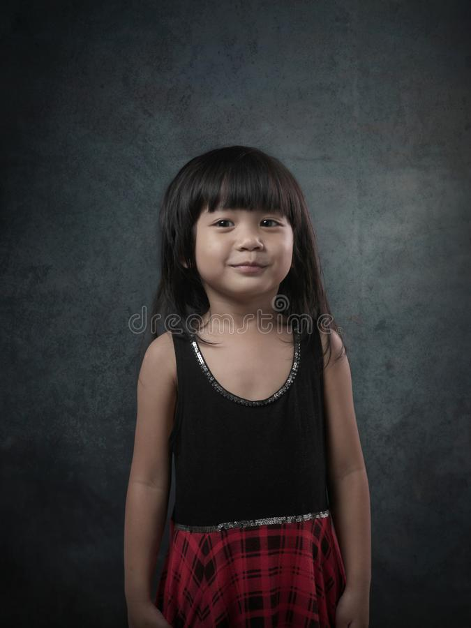 Young Asian Baby Girl Portrait royalty free stock photo