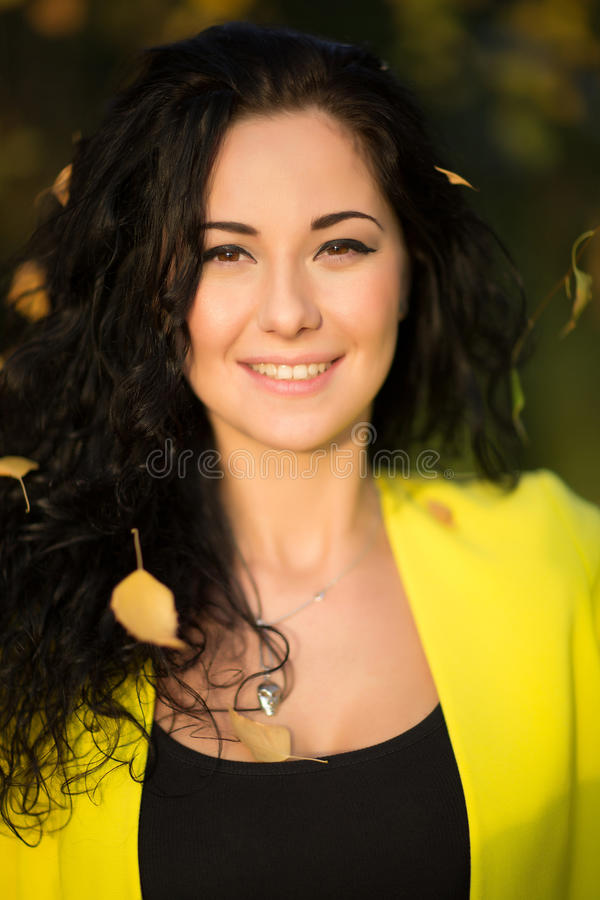Portrait Of Young Smiling Beautiful Woman royalty free stock photography