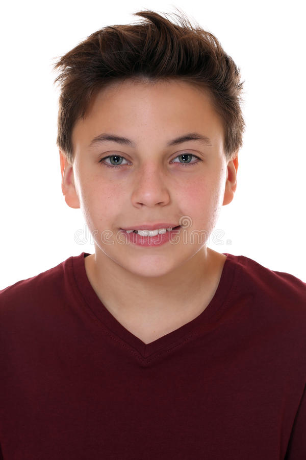 Portrait of a young smiling boy royalty free stock photo