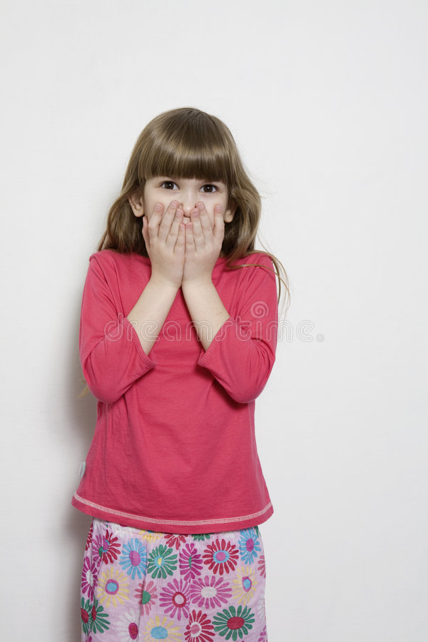 Portrait of young smiling cute girl. stock image