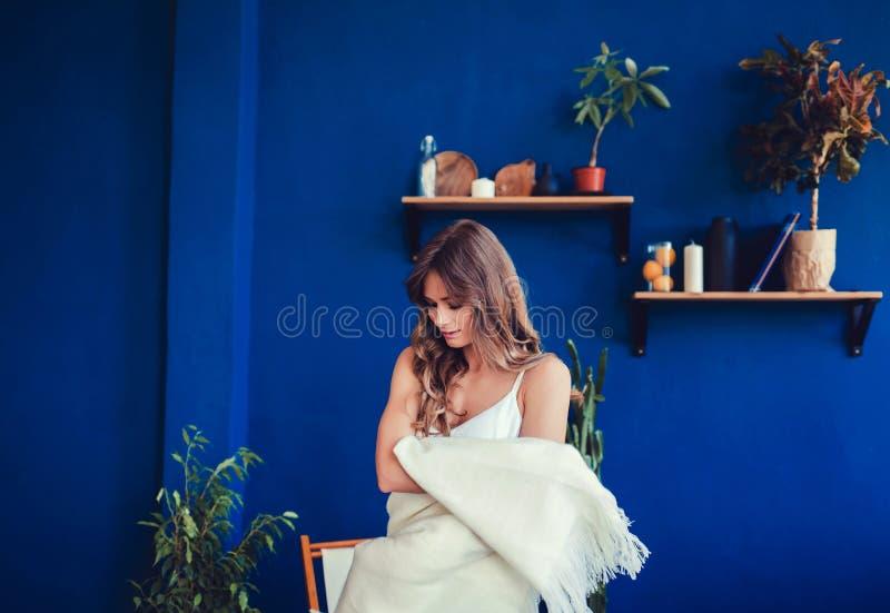 Portrait of young stylish girl stock photo