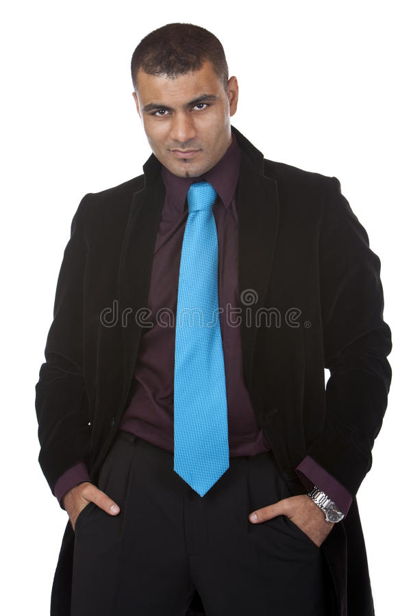 Portrait of young successful business man royalty free stock photos