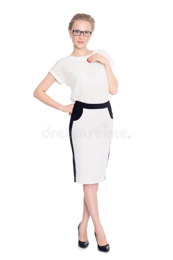 Portrait young successful business woman royalty free stock photo