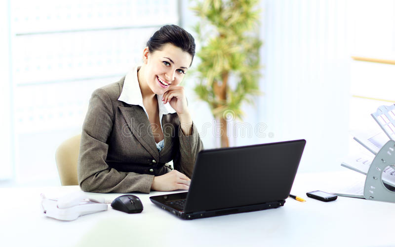 Download Young Successful Businesswoman In The Office Stock Image - Image: 29715493