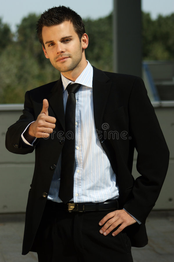 Portrait of a young sucessful man royalty free stock images