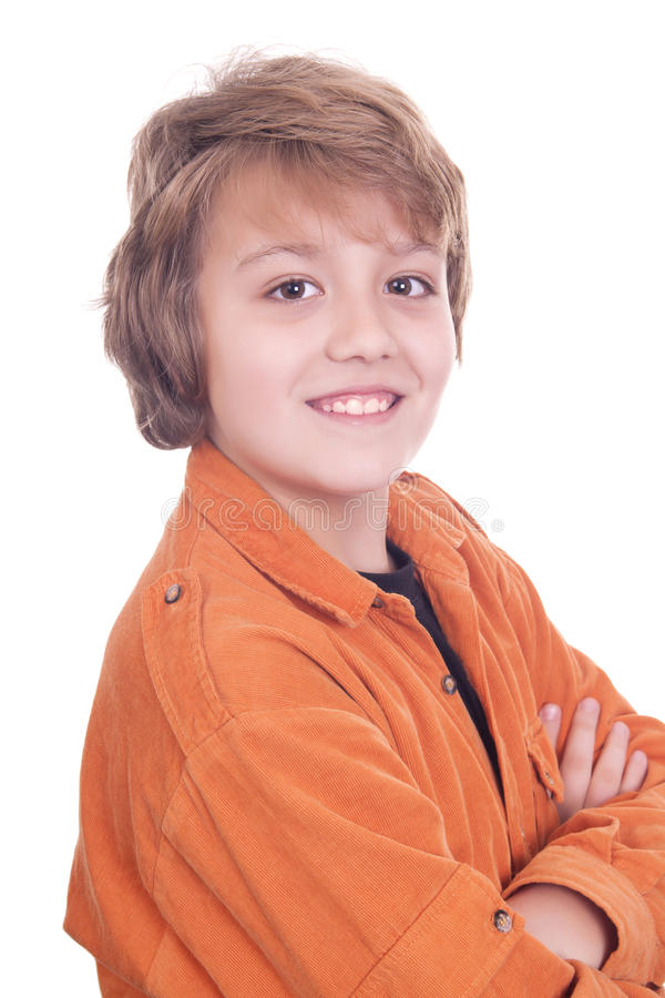 Portrait Of Young Teenager Stock Photo