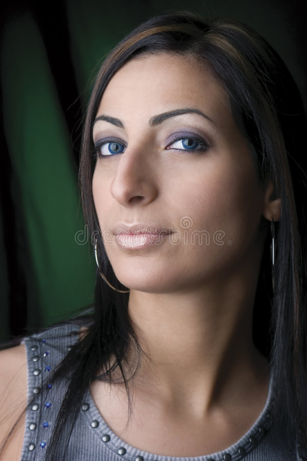 Download Portrait of young woman stock photo. Image of woman, cosmetics - 1040962