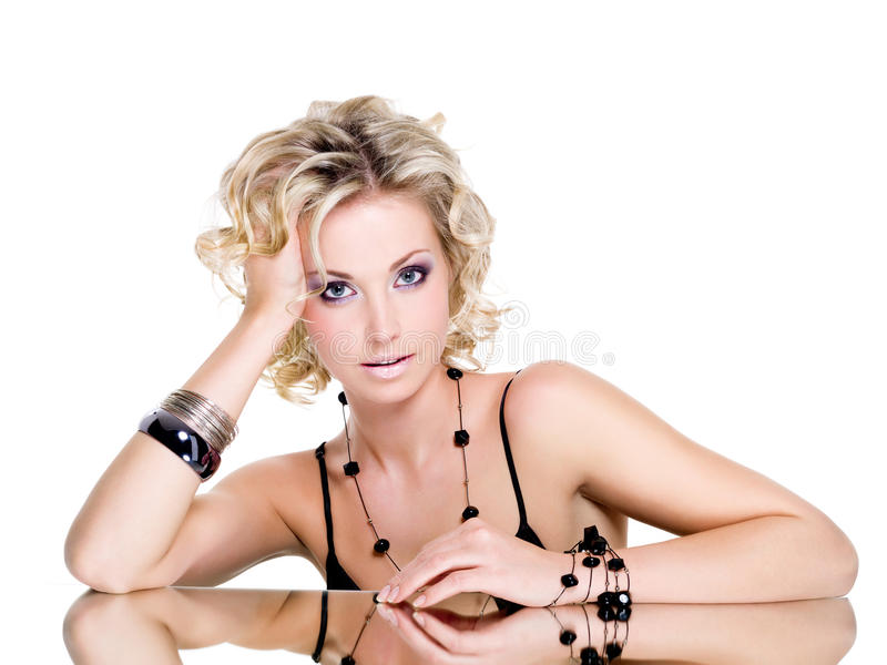 Download Portrait of young woman stock photo. Image of blond, beauty - 13843296