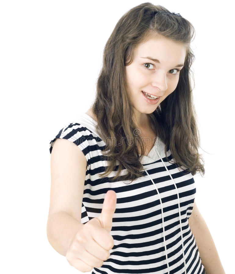 Portrait of the young woman stock image