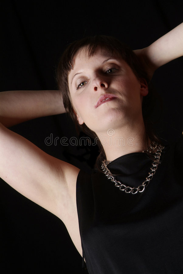 Download Portrait of a young woman stock image. Image of longing - 1828943