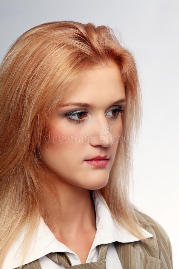Portrait Of The Young Woman Stock Photo
