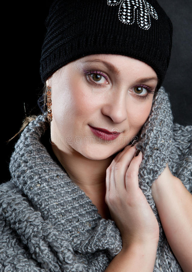 Portrait of the young woman stock images