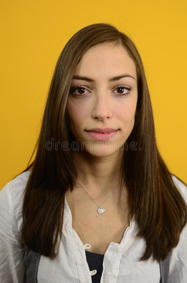 Portrait of a young woman royalty free stock photography