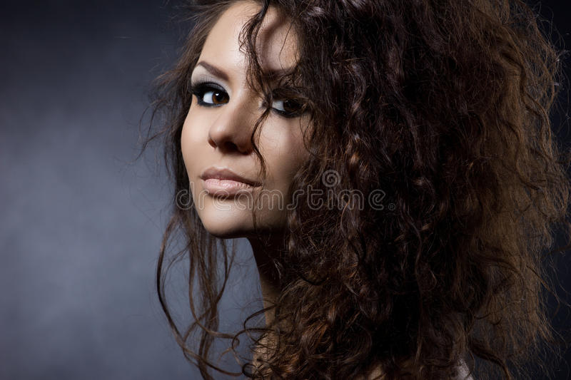 Portrait of a young woman stock images