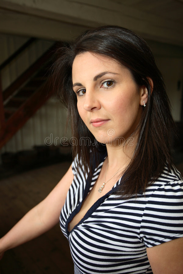 Portrait of a young woman stock photos