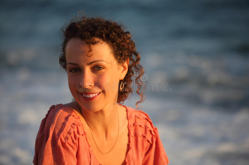 Download Portrait Of Young Woman Against Sea Royalty Free Stock Photos - Image: 10693908