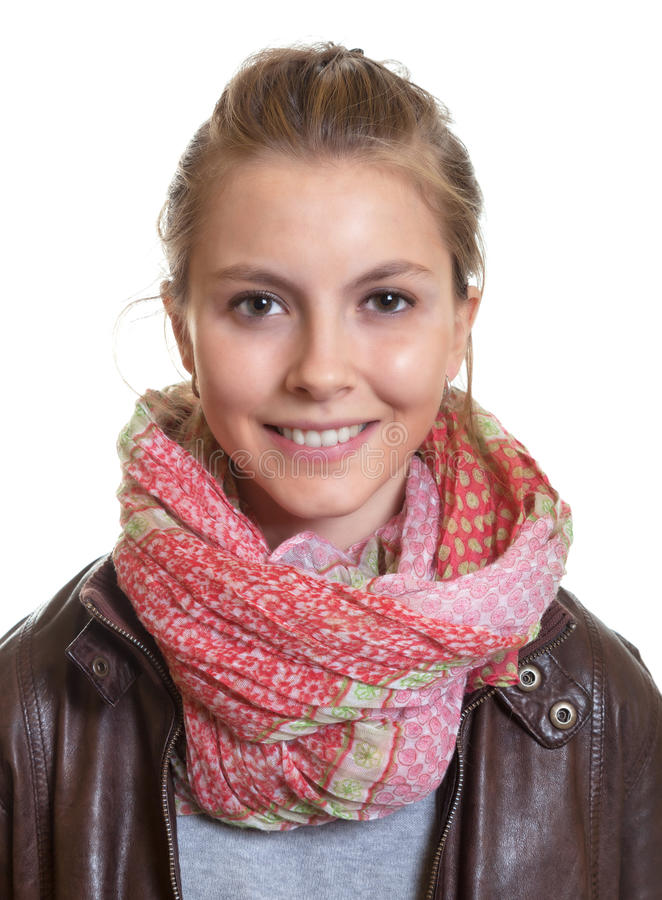 Portrait of a young woman with blond hair royalty free stock photo