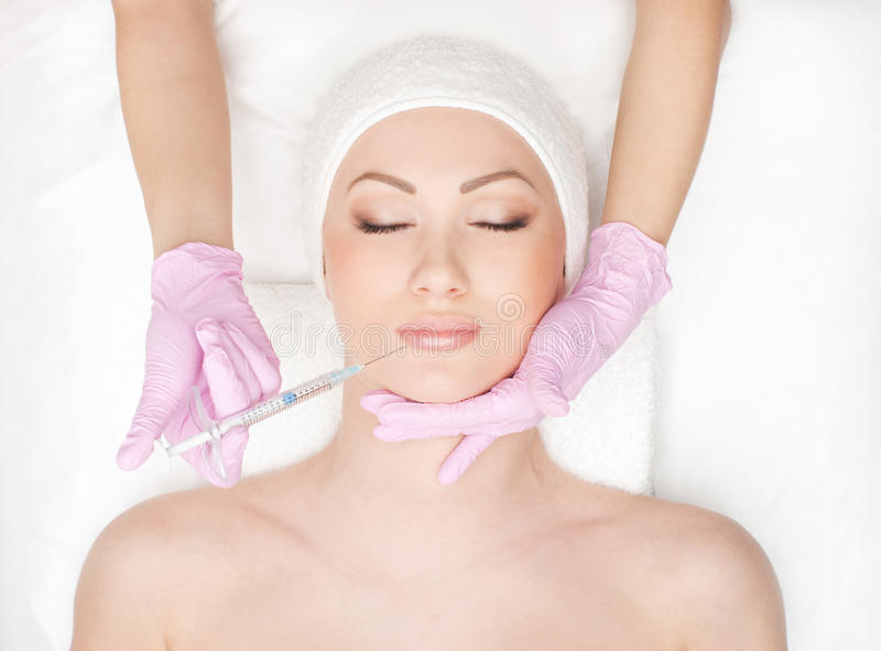 Download Portrait Of A Young Woman On A Botox Procedure Stock Photo - Image: 25911142