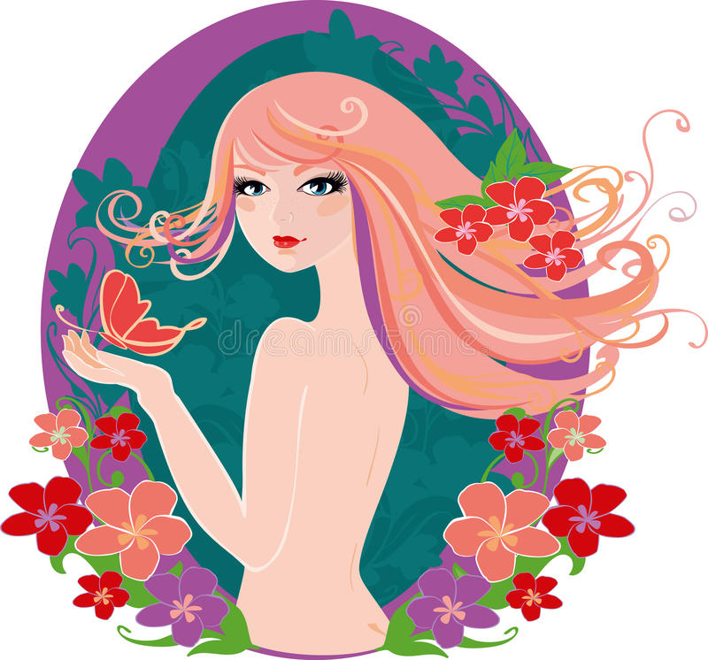 Spring lady stock photography