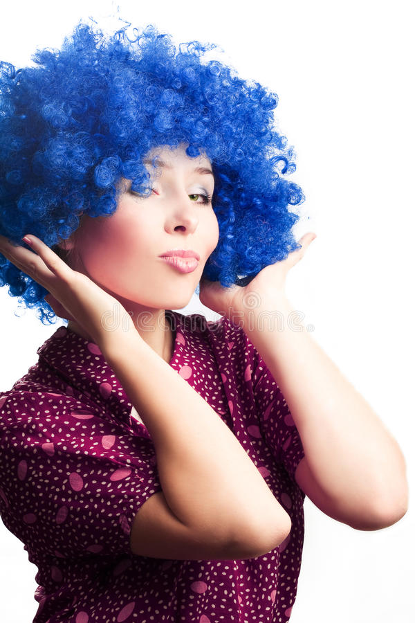 Download Portrait Of A Young Woman Clown Royalty Free Stock Photos - Image: 11502198