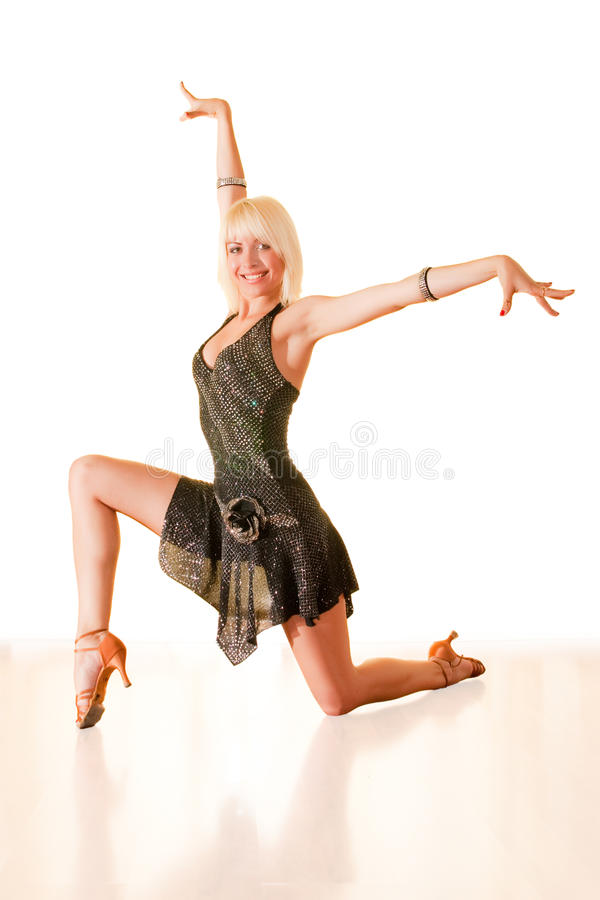 Portrait of a young woman in dance royalty free stock photo