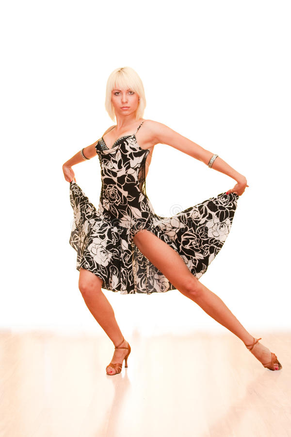 Portrait of a young woman in dance stock photography