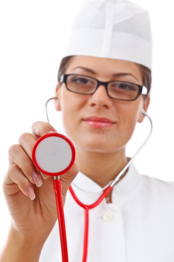 Portrait of a young woman doctor royalty free stock photo