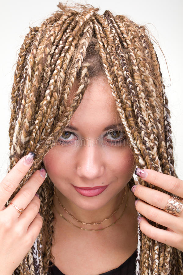Download Portrait Of Young Woman With  Dreadlocks Stock Photo - Image: 16470646