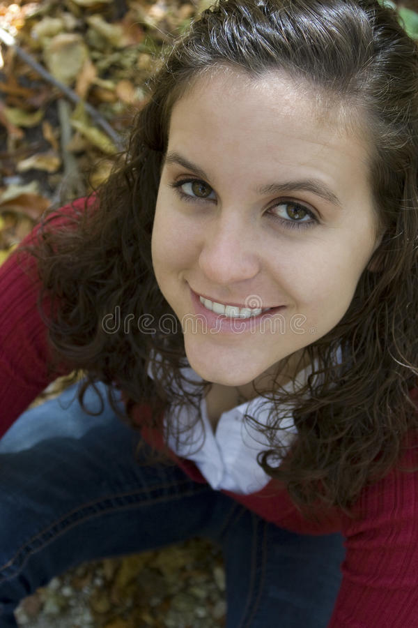 Download Portrait Of A Young Woman In Leaves Stock Photo - Image: 16417596