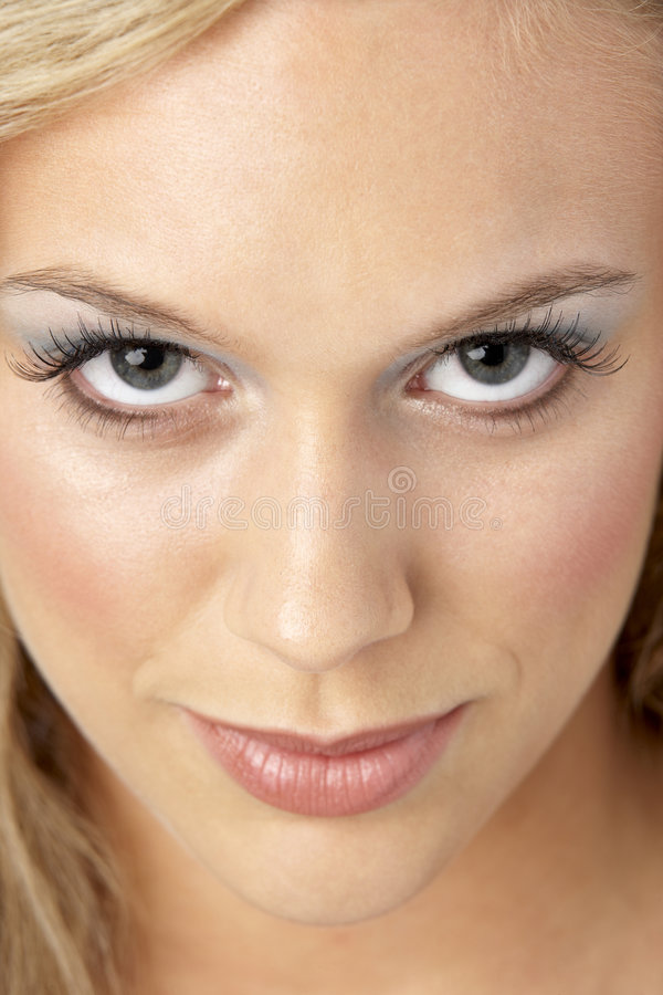 Portrait Of Young Woman Looking At Camera royalty free stock image