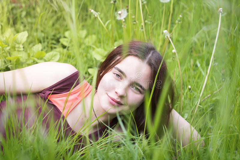 Portrait of a young woman royalty free stock photos